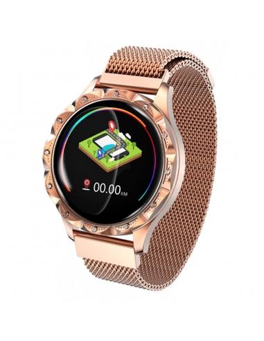 Smartwatch damski stalowy bransoleta...