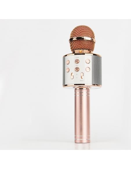 różowe złoto bezprzewodowy mikrofon karaoke dla dzieci