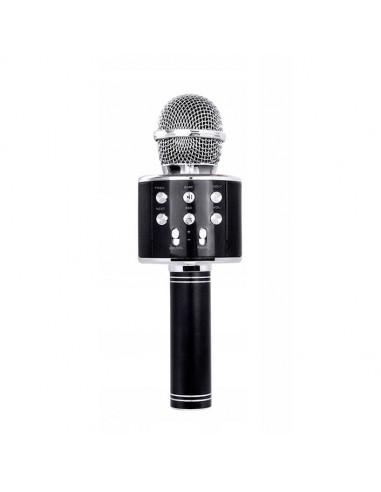 czarny bezprzewodowy mikrofon karaoke dla dzieci