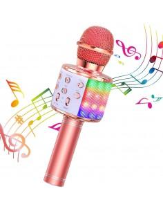 mikrofon karaoke z podświetleniem LED 2020