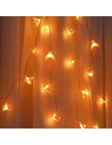 Lampki ogrodowe LED - panel solarny -...